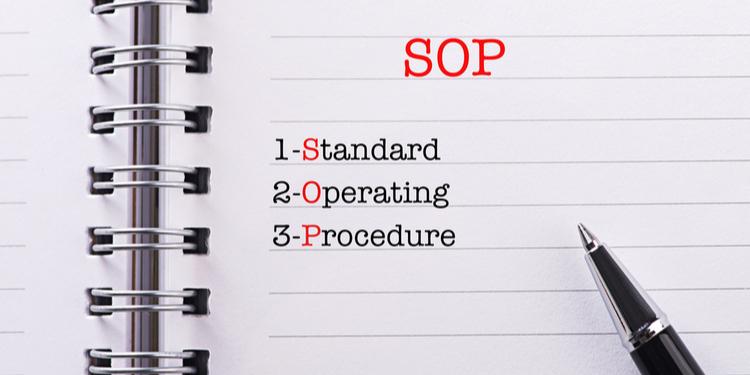 documenting SOPs (Standard Operating Procedures)