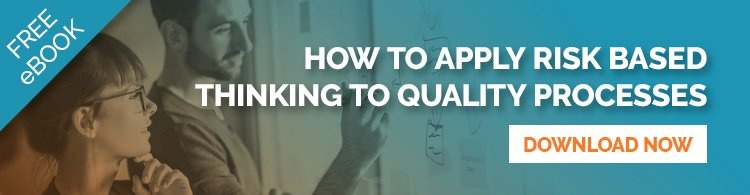 Apply risk based thinking to quality processes