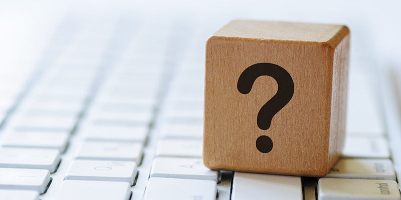 What is document control? A question mark on a keyboard
